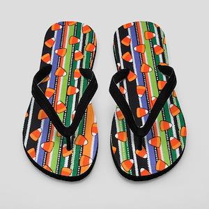 Candy Corn Stripe Flip Flops