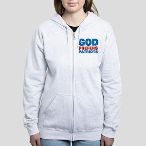 God Prefers Patriots Women's Zip Hoodie