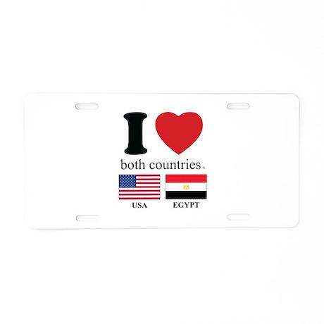 USA-EGYPT Aluminum License Plate