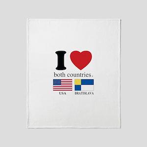 USA-BRATISLAVA Throw Blanket
