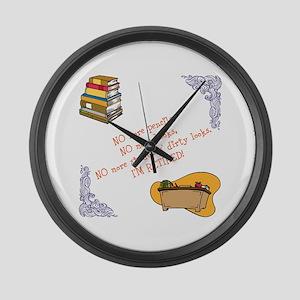 teacher's retirement Large Wall Clock