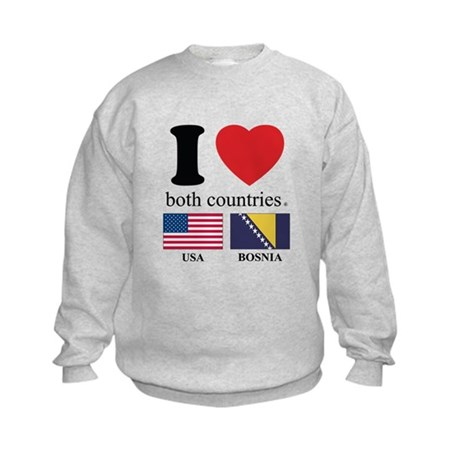 USA-BOSNIA Kids Sweatshirt