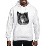 Rough Collie Hooded Sweatshirt