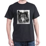 Rough Collie Black T-Shirt