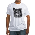 Rough Collie Fitted T-Shirt