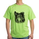 Rough Collie Green T-Shirt
