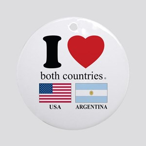 USA-ARGENTINA Ornament (Round)