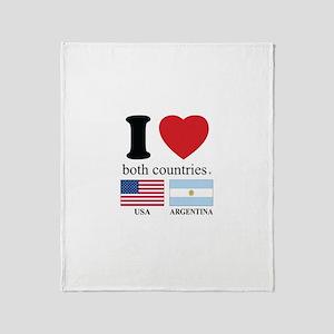 USA-ARGENTINA Throw Blanket