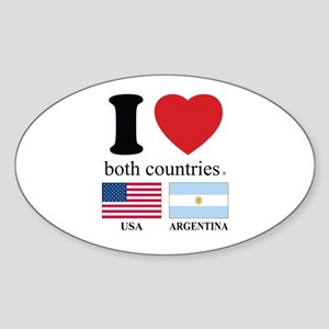 USA-ARGENTINA Sticker (Oval)