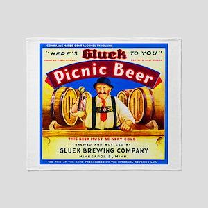 Minnesota Beer Label 4 Throw Blanket