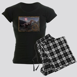 dinosaur extinction Women's Dark Pajamas