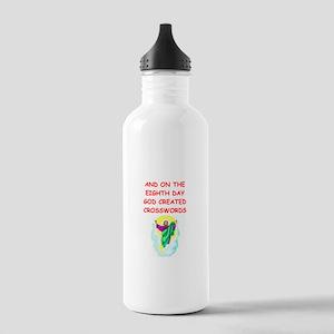 crosswords Stainless Water Bottle 1.0L