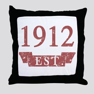 Established 1912 Throw Pillow
