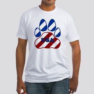 USA Paw Fitted T-Shirt