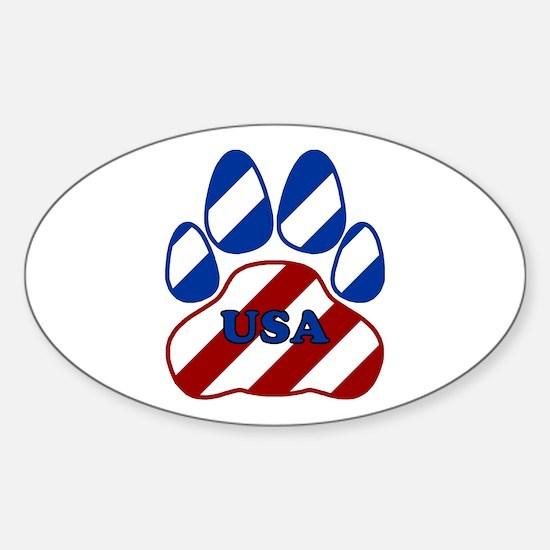 USA Paw Sticker (Oval)