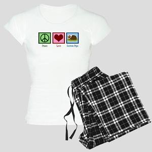 Peace Love Guinea Pigs Women's Light Pajamas