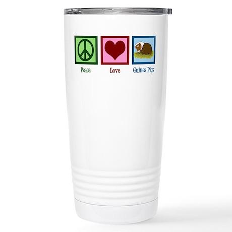 Peace Love Guinea Pigs Stainless Steel Travel Mug