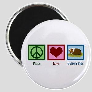 Peace Love Guinea Pigs Magnet