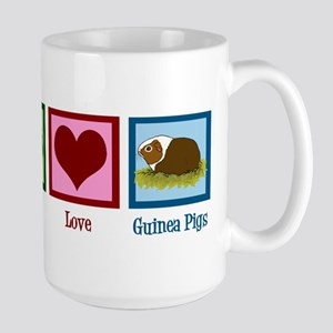 Peace Love Guinea Pigs Large Mug