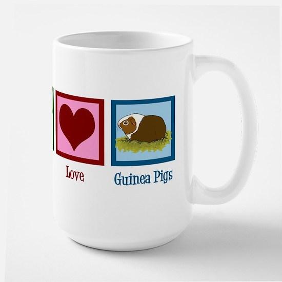Peace Love Guinea Pigs Large Mug