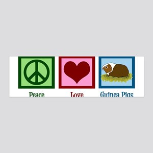 Peace Love Guinea Pigs 36x11 Wall Decal
