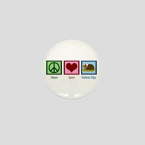 Peace Love Guinea Pigs Mini Button