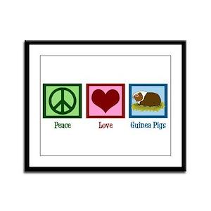 Peace Love Guinea Pigs Framed Panel Print