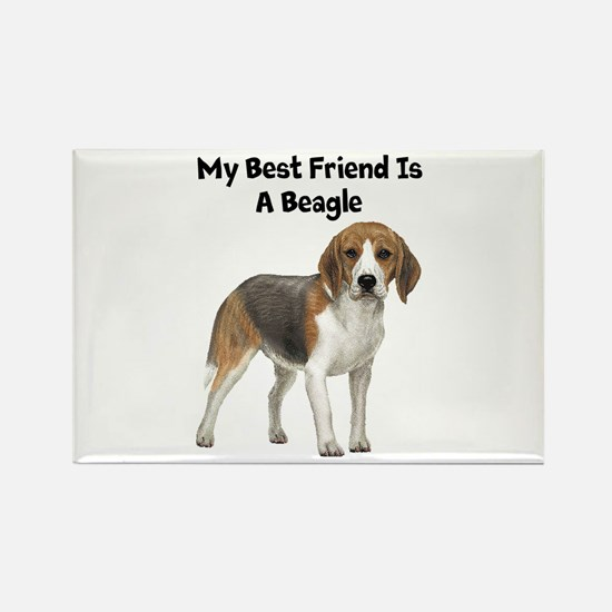Beagle Rectangle Magnet