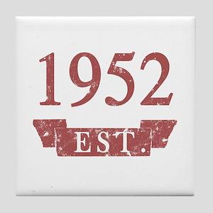 Established 1952 Tile Coaster