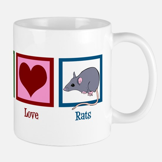 Peace Love Rats Mug