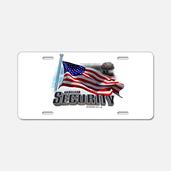 Homeland Security Aluminum License Plate