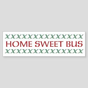 Home Sweet Bus Sticker (Bumper)