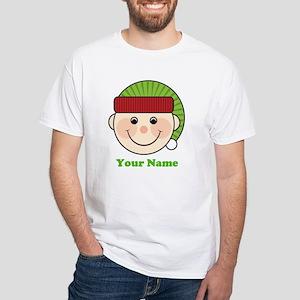 Personalized Christmas Elf White T-Shirt