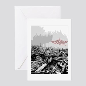 Clearcut Butchers Greeting Card
