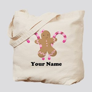 Personalized Gingerbread Cookie Tote Bag