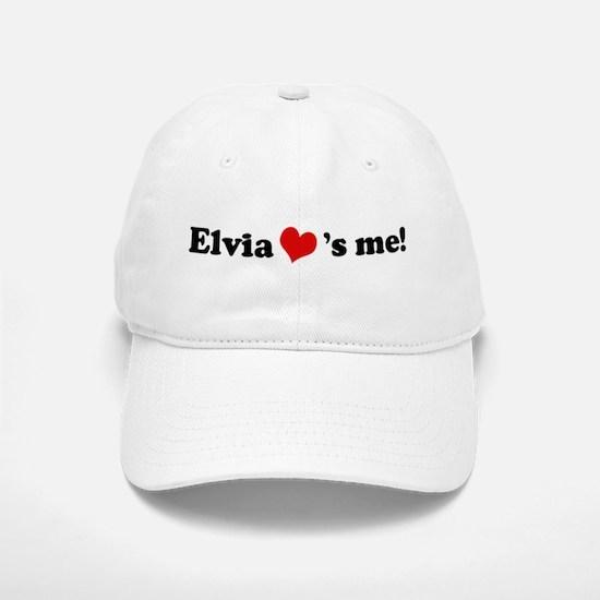 Elvia loves me Baseball Baseball Cap
