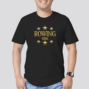 USA Rowing Men's Fitted T-Shirt (dark)