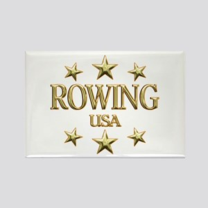 USA Rowing Rectangle Magnet
