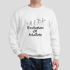 funny mallet evolution Sweatshirt