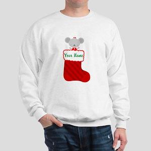 Personalized Christmas Mouse Sweatshirt