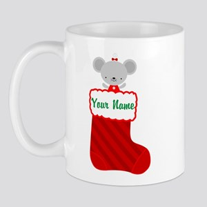 Personalized Christmas Mouse Mug