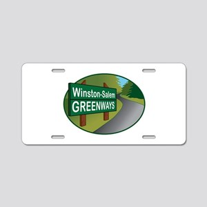 WS Greenways Aluminum License Plate