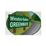WS Greenways Rectangle Magnet