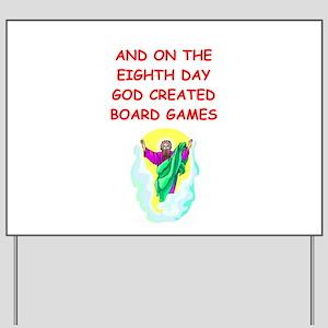 board games Yard Sign