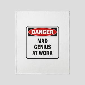 Mad Genius Throw Blanket