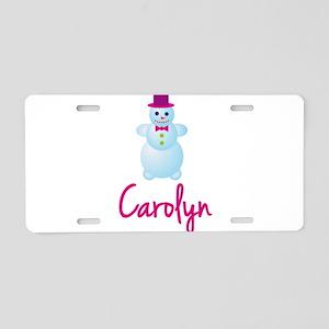 Carolyn the snow woman Aluminum License Plate