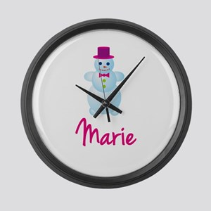 Marie the snow woman Large Wall Clock