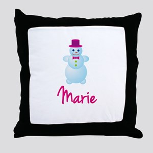 Marie the snow woman Throw Pillow