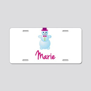 Marie the snow woman Aluminum License Plate