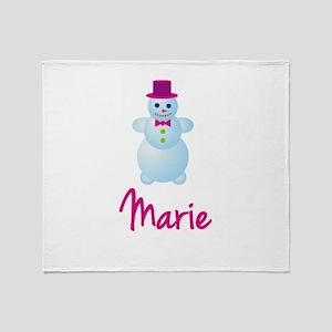 Marie the snow woman Throw Blanket